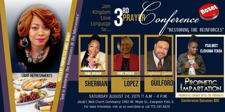 "Kingdom Love Language Presents: The ""God Is Restoring The Reinforcers Of The Intercessors"" Prayer Conference tickets"