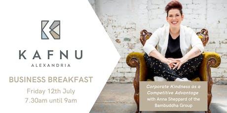 Kafnu Business Breakfast with Anna Sheppard tickets