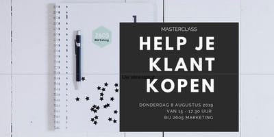 Masterclass - Help je klant kopen