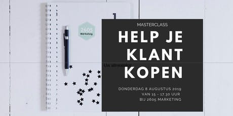 Masterclass - Help je klant kopen tickets