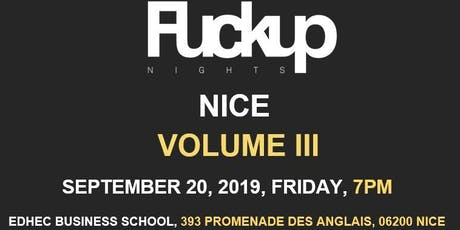 Fuckup Nights (FUN) NICE, Vol. 3 billets