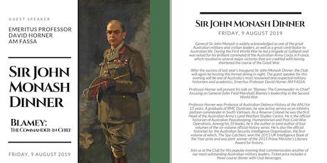 Sir John Monash Dinner tickets
