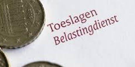 Presentatie over belastingtoeslagen tickets