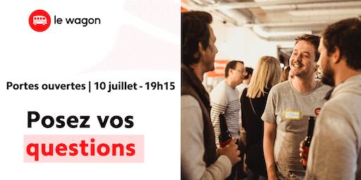 Session d'information le Wagon Bordeaux le 10 juillet - Apprendre à coder