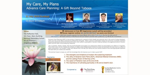 My Care, My Plans  Advance Care Planning: A Gift Beyond Taboos - 21 July 2019