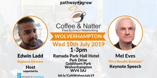 Wolverhampton Coffee & Natter - Free Business Networking Wed 10th July 2019