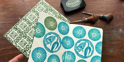 Pattern printmaking for decorative papers with Luna North