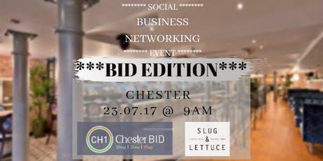 CH1BID Social networking @ Slug & Lettuce Chester tickets