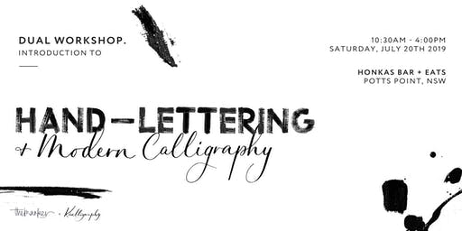 DUAL WORKSHOP - Introduction to Lettering & Modern Calligraphy