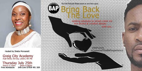 Bring Back The Love - Let's Talk 'Seeking Street Crime' Solutions tickets