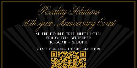 20 Years in the making....Reality Solutions Anniversary Event  tickets