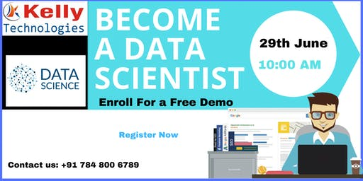 Free WorkShop Session On Data Science is scheduled on 29th june10 AM In Ban