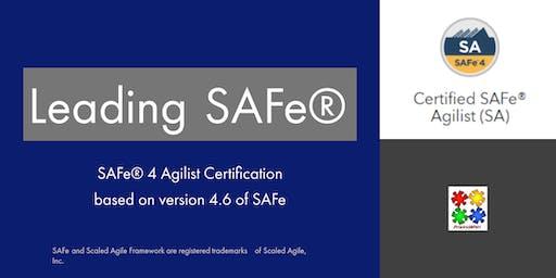 Leading SAFe 4 with SAFe Agilist certification (Edinburgh)