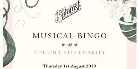 Musical Bingo in aid of The Christie Charity tickets