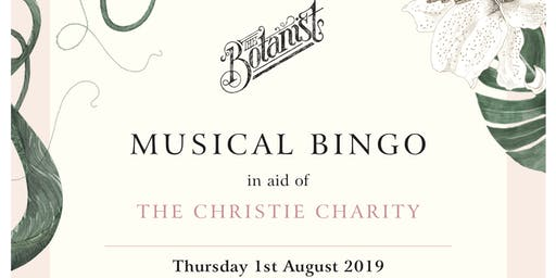 Musical Bingo in aid of The Christie Charity