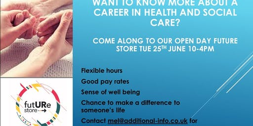 Career in health and social care open day