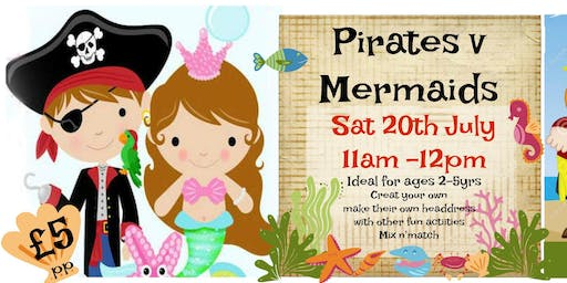 Toddler Mermaid v Pirate crafty special