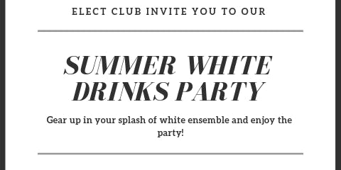 Summer white party for singles on a soho rooftop