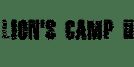 Lion's Camp II ingressos