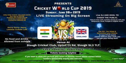 Cricket World Cup India vs England