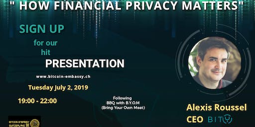 """Alexis Roussel """"How financial privacy matters"""""""