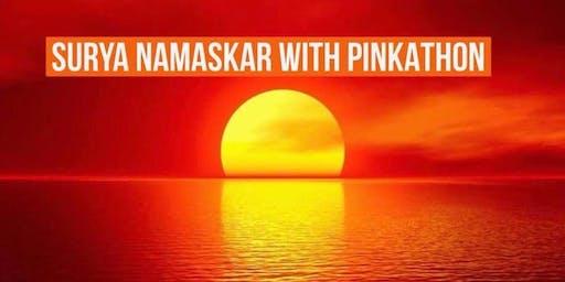 108 Surya Namaskar With Pinkathon