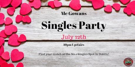 McGowans Singles Night  tickets