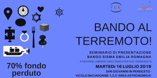 BANDO AL TERREMOTO!