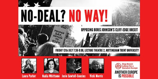No Deal - No Way! Opposing Johnson's Cliff Edge Brexit
