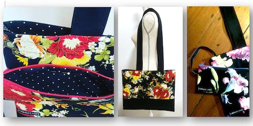 TOTE & Detachable ZIPPERRED POUCH - Sewing Workshop
