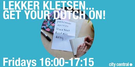 Lekker Kletsen - Dutch language session 28 June tickets