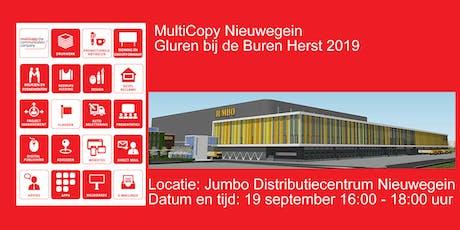"""Multicopy """"Gluren bij de Buren"""" Herfst 2019  tickets"""