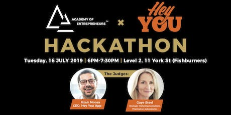 Academy of Entrepreneurs Hackathon with Hey You tickets