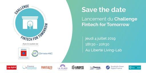 Lancement du Challenge Fintech for Tomorrow 2019