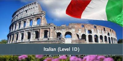 Italian (Level 1D) - October 2019