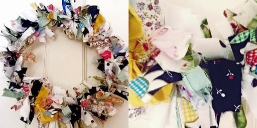 Vintage Style Fabric Wreath