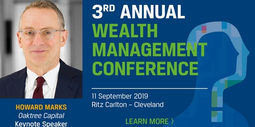 CFA Society Cleveland Wealth Management Conference, September 11, 11:30am to 6:00pm, Higbee's The Silver Grille