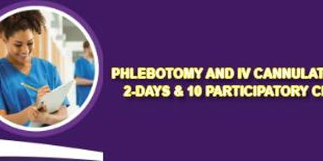 Phlebotomy and IV Cannulation Courses - TWO DAY COURSE (JUNE) - 10 Participatory CPD Points - London tickets