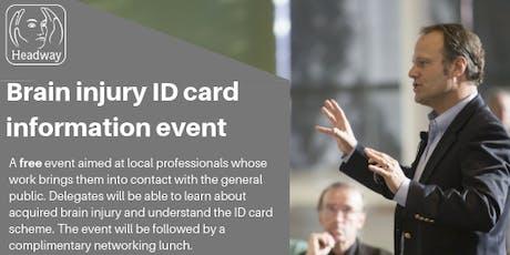 Brain injury ID cards information event tickets