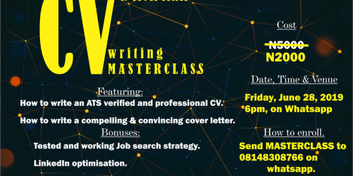 CV and cover letter writing masterclass
