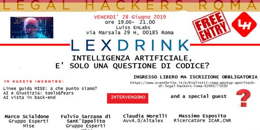 Intelligenza artificiale: è solo una questione di codice? #AperiTech con i Legal Hackers Roma