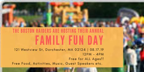 Boston Raiders Family Fun Day tickets