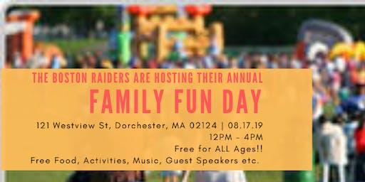 Boston Raiders Family Fun Day