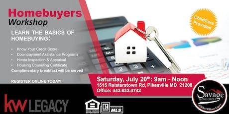FREE: Savage Home Group Homebuyers Workshop  tickets