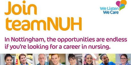 NUH Band 5 Recruitment Day | Nottingham City Hospital | 12 July 2019 tickets
