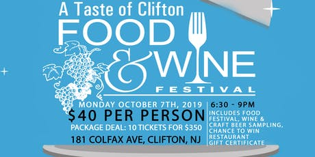 A Taste of Clifton Food & Wine Festival tickets