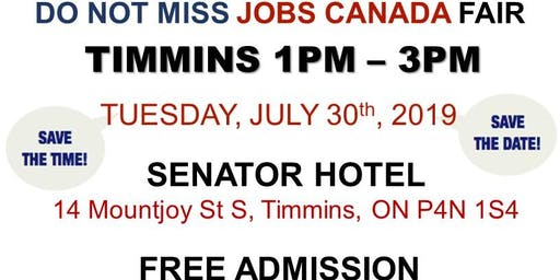 Timmins Job Fair - July 30th, 2019