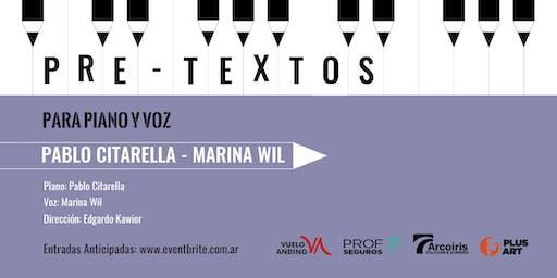 Pretextos para piano y voz con Pablo Citarella y Marina Wil