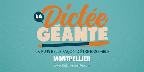 la dictée géante de Montpellier billets