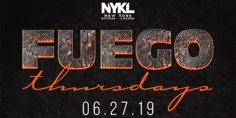NYKL's Fuego Thursdays | Latin Night tickets